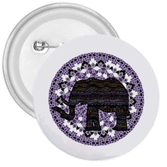 Ornate Mandala Elephant  3  Buttons by Valentinaart