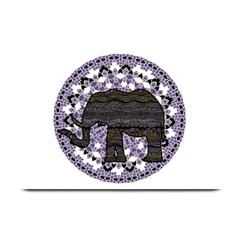 Ornate Mandala Elephant  Plate Mats by Valentinaart
