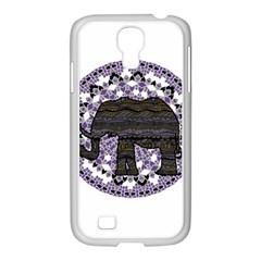 Ornate Mandala Elephant  Samsung Galaxy S4 I9500/ I9505 Case (white) by Valentinaart