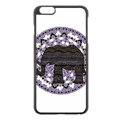 Ornate Mandala Elephant  Apple Iphone 6 Plus/6s Plus Black Enamel Case by Valentinaart