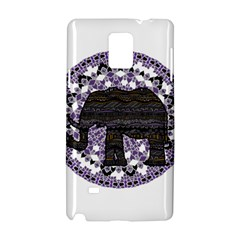 Ornate Mandala Elephant  Samsung Galaxy Note 4 Hardshell Case by Valentinaart