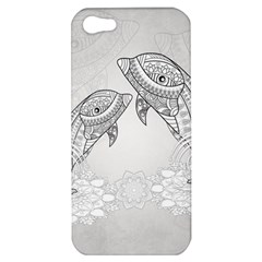 Beautiful Dolphin, Mandala Design Apple Iphone 5 Hardshell Case by FantasyWorld7