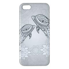 Beautiful Dolphin, Mandala Design Apple Iphone 5 Premium Hardshell Case by FantasyWorld7