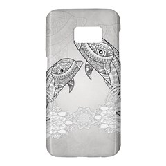 Beautiful Dolphin, Mandala Design Samsung Galaxy S7 Hardshell Case  by FantasyWorld7
