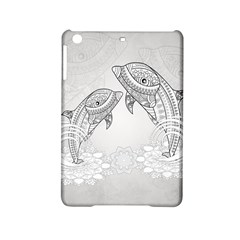 Beautiful Dolphin, Mandala Design Ipad Mini 2 Hardshell Cases by FantasyWorld7