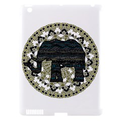 Ornate Mandala Elephant  Apple Ipad 3/4 Hardshell Case (compatible With Smart Cover) by Valentinaart