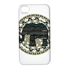 Ornate Mandala Elephant  Apple Iphone 4/4s Hardshell Case With Stand by Valentinaart