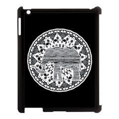 Ornate Mandala Elephant  Apple Ipad 3/4 Case (black) by Valentinaart