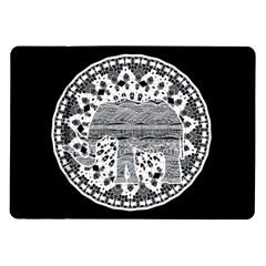 Ornate Mandala Elephant  Samsung Galaxy Tab 10 1  P7500 Flip Case by Valentinaart
