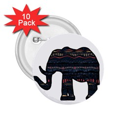 Ornate Mandala Elephant  2 25  Buttons (10 Pack)  by Valentinaart