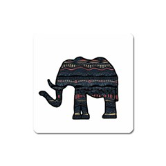 Ornate Mandala Elephant  Square Magnet by Valentinaart