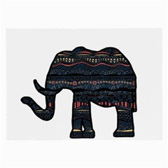 Ornate Mandala Elephant  Large Glasses Cloth by Valentinaart