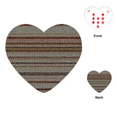 Stripy Knitted Wool Fabric Texture Playing Cards (heart)  by BangZart