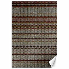 Stripy Knitted Wool Fabric Texture Canvas 20  X 30   by BangZart