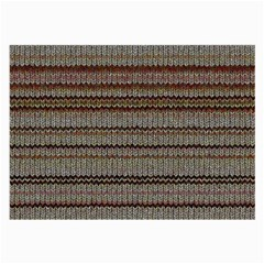 Stripy Knitted Wool Fabric Texture Large Glasses Cloth (2 Side) by BangZart