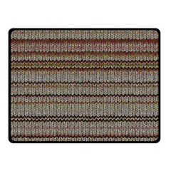 Stripy Knitted Wool Fabric Texture Fleece Blanket (small) by BangZart
