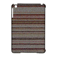 Stripy Knitted Wool Fabric Texture Apple Ipad Mini Hardshell Case (compatible With Smart Cover) by BangZart