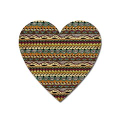 Aztec Pattern Heart Magnet by BangZart
