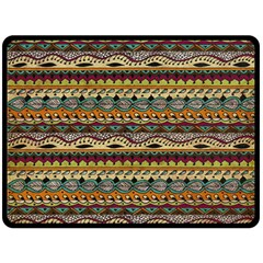 Aztec Pattern Double Sided Fleece Blanket (large)  by BangZart