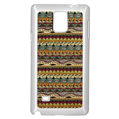 Aztec Pattern Samsung Galaxy Note 4 Case (white) by BangZart