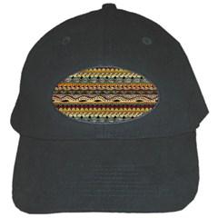 Aztec Pattern Black Cap by BangZart