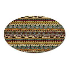 Aztec Pattern Oval Magnet by BangZart