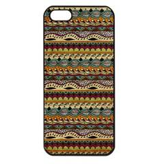 Aztec Pattern Apple Iphone 5 Seamless Case (black) by BangZart