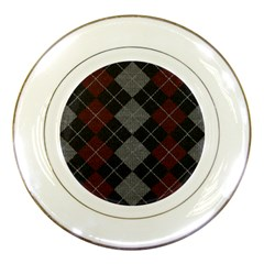 Wool Texture With Great Pattern Porcelain Plates by BangZart