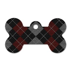 Wool Texture With Great Pattern Dog Tag Bone (two Sides) by BangZart