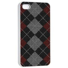 Wool Texture With Great Pattern Apple Iphone 4/4s Seamless Case (white) by BangZart