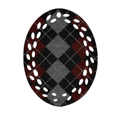 Wool Texture With Great Pattern Oval Filigree Ornament (two Sides) by BangZart