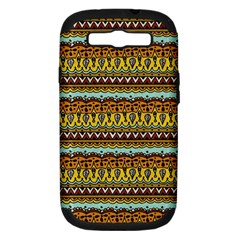 Bohemian Fabric Pattern Samsung Galaxy S Iii Hardshell Case (pc+silicone) by BangZart