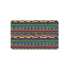 Aztec Pattern Cool Colors Magnet (name Card) by BangZart