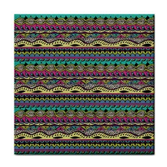 Aztec Pattern Cool Colors Face Towel by BangZart
