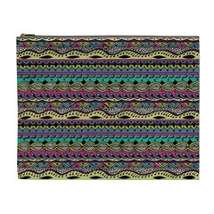 Aztec Pattern Cool Colors Cosmetic Bag (xl) by BangZart