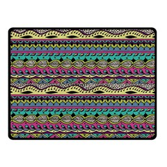 Aztec Pattern Cool Colors Fleece Blanket (small) by BangZart