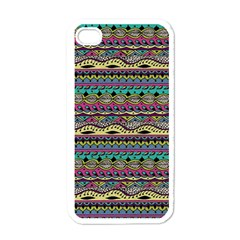 Aztec Pattern Cool Colors Apple Iphone 4 Case (white) by BangZart