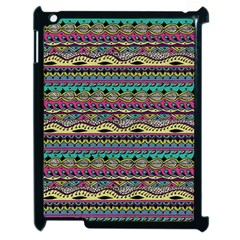 Aztec Pattern Cool Colors Apple Ipad 2 Case (black) by BangZart