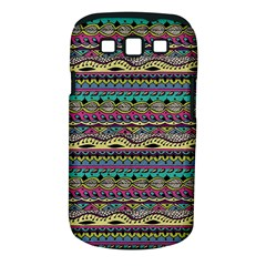 Aztec Pattern Cool Colors Samsung Galaxy S Iii Classic Hardshell Case (pc+silicone) by BangZart