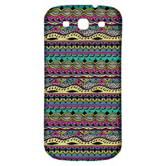 Aztec Pattern Cool Colors Samsung Galaxy S3 S Iii Classic Hardshell Back Case by BangZart