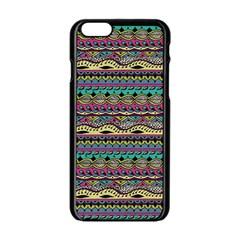 Aztec Pattern Cool Colors Apple Iphone 6/6s Black Enamel Case by BangZart