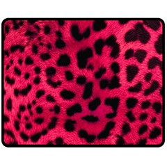 Leopard Skin Fleece Blanket (medium)  by BangZart