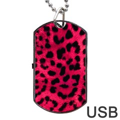 Leopard Skin Dog Tag Usb Flash (two Sides) by BangZart