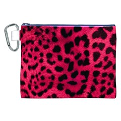 Leopard Skin Canvas Cosmetic Bag (xxl) by BangZart
