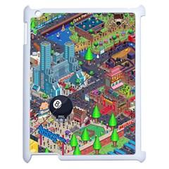 Pixel Art City Apple Ipad 2 Case (white) by BangZart