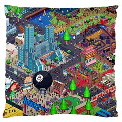 Pixel Art City Large Cushion Case (one Side) by BangZart