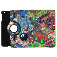 Pixel Art City Apple Ipad Mini Flip 360 Case by BangZart