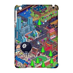 Pixel Art City Apple Ipad Mini Hardshell Case (compatible With Smart Cover) by BangZart