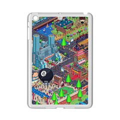 Pixel Art City Ipad Mini 2 Enamel Coated Cases by BangZart