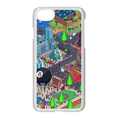 Pixel Art City Apple Iphone 7 Seamless Case (white) by BangZart